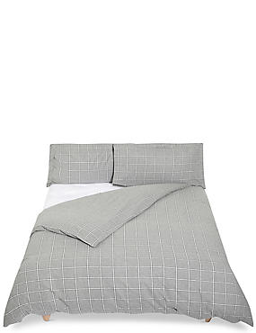Dawson Check Brushed Bedding Set , GREY MIX, catlanding