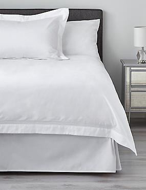 750 Thread Count Luxury Supima® Cotton Sateen Duvet Cover, WHITE, catlanding