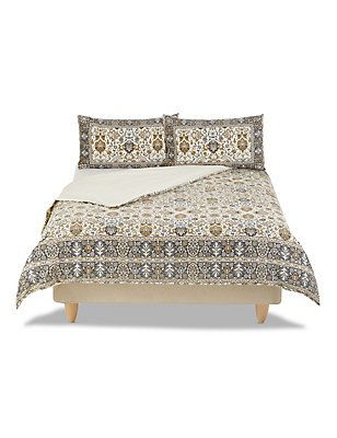 Persian Print Bedset, NATURAL MIX, catlanding
