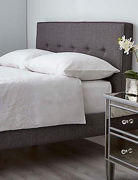 Floral Cuff Bedding Set, WHITE, catlanding