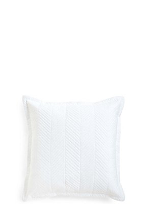 Quilted Cushion, WHITE, catlanding