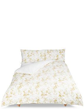Yasmin Floral Print Bedding Set, OCHRE, catlanding