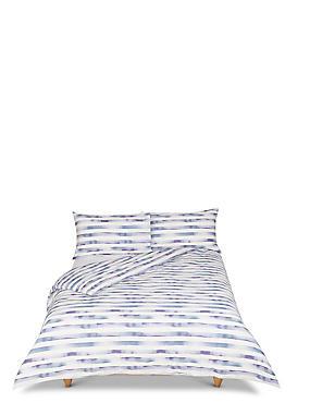 Watercolour Striped Bedding Set, LAVENDER MIX, catlanding