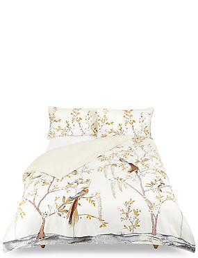Aurelia Print & Embroidered Bedding Set, NATURAL, catlanding