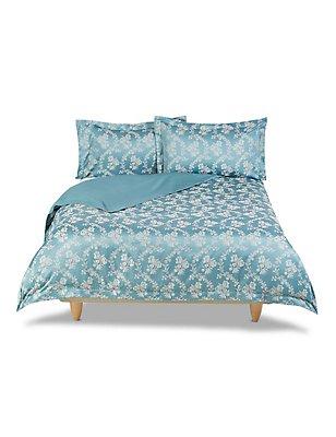Anabelle Floral Jacquard Bedding Set, DUCK EGG, catlanding