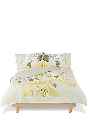 Gabrielle– Parure de lit brodée à imprimé fleuri, VERT ASSORTI, catlanding