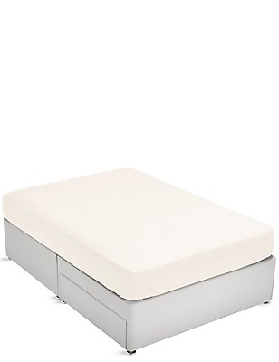 Brushed Fitted Sheet, CREAM, catlanding