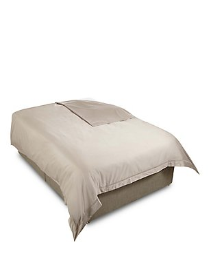 600 Thread Count Supima® Sateen Duvet Cover, MINK, catlanding