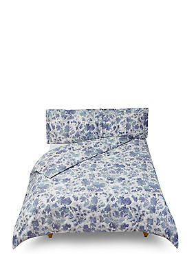 Abstract Floral Printed Bedding Set, NAVY MIX, catlanding