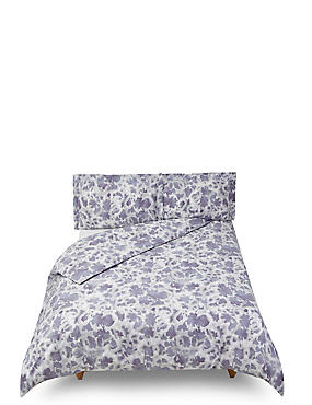 Abstract Floral Printed Bedding Set, LILAC MIX, catlanding