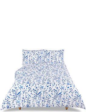 Hummingbird Print Bedding Set, BLUE MIX, catlanding