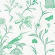 Hummingbird Print Bedding Set, APPLE GREEN, swatch