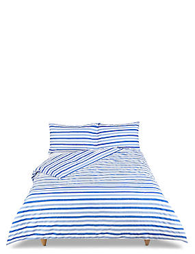 Elliott Printed Stripe Bedding Set, BRIGHT BLUE MIX, catlanding