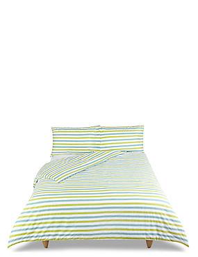 Elliott Printed Stripe Bedding Set, LIME MIX, catlanding