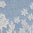 Casual Floral Jacquard Bedding Set, SMOKEY BLUE, swatch