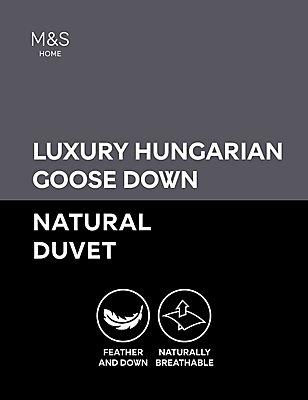 Hungarian Goose Down 10.5 Tog Duvet, WHITE, catlanding