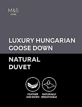 Couette en duvet d'oie hongrois à indice de chaleur de 13,5, BLANC, catlanding