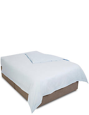Pure Egyptian Cotton 400 Thread Count Duvet Cover, POWDER BLUE, catlanding
