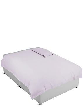 Pure Egyptian Cotton 400 Thread Count Duvet Cover , SOFT LILAC, catlanding