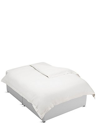 Pure Egyptian Cotton 400 Thread Count Duvet Cover , PEARL GREY, catlanding