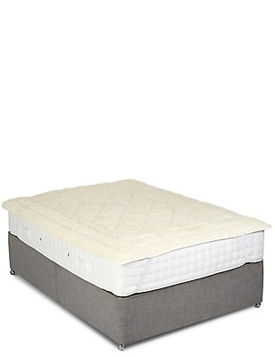 Wool Mattress Topper, NATURAL, catlanding
