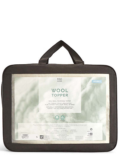 Wool Mattress Topper M S Protector Waterproof Terry