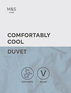 Comfortably Cool 3 Tog Duvet, WHITE, catlanding