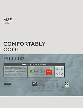 Comfortably Cool Medium Pillow, , catlanding
