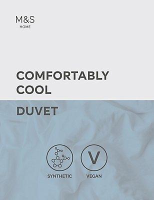 Comfortably Cool 10.5 Tog Duvet, WHITE, catlanding