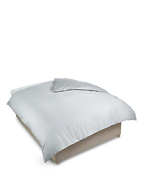 400 Thread Count Sateen Duvet Cover, ASH GREY, catlanding