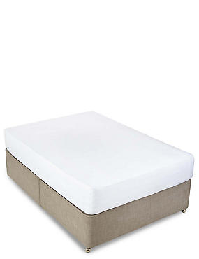 400 Thread Count Sateen Deep Fitted Sheet, WHITE, catlanding