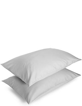 Sateen Housewife Pillowcase, ASH GREY, catlanding