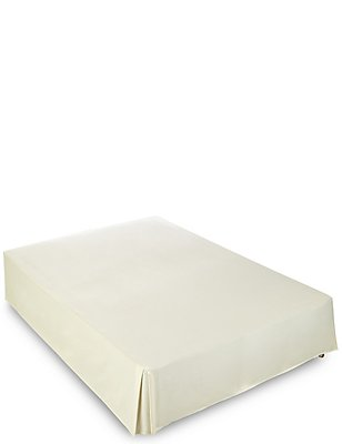 Pure Egyptian Cotton 400 Thread Count Sateen Valance Sheet, LIGHT CREAM, catlanding
