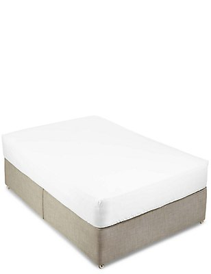 Pure Egyptian Cotton 400 Thread Count Sateen Deep Fitted Sheet, WHITE, catlanding