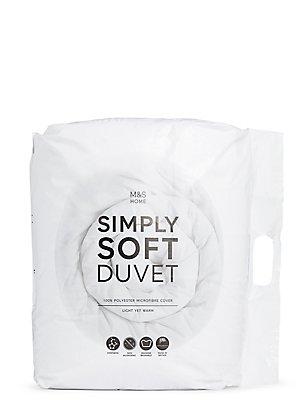 Simply Soft 4.5 Tog Duvet, WHITE, catlanding