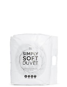Simply Soft 13.5 All Season Tog Duvet, WHITE, catlanding