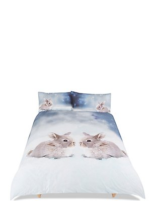 Digi Print Rabbit Bedding Set, BLUE MIX, catlanding