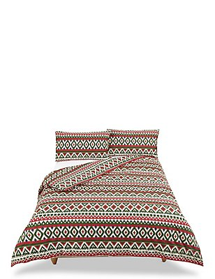 Fairisle Bedset, RED MIX, catlanding