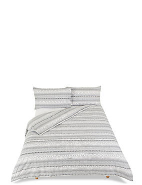 Brushed Cable Knit Bedding Set, GREY MIX, catlanding