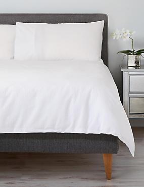 Cotton Rich Seersucker Bedding Set, WHITE, catlanding