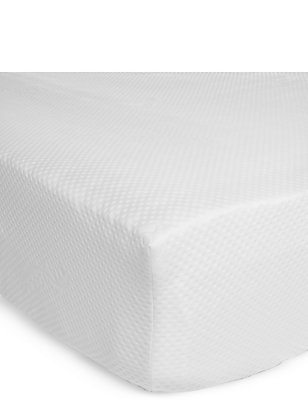 Extra Deep Memory Foam Mattress Topper, WHITE, catlanding