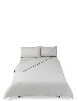 Juego de cama de percal de algodón suave y cómodo, GRIS, catlanding