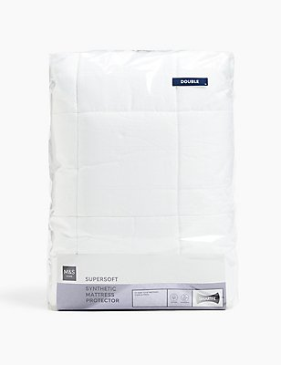 Supersoft Mattress Protector, WHITE, catlanding