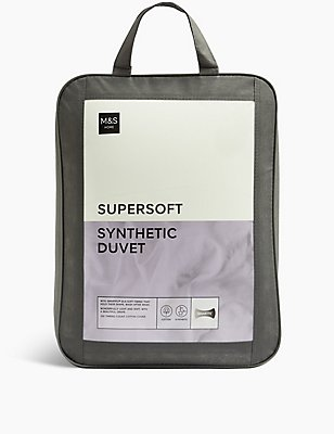 Supersoft 13.5 All Season Tog Duvet, WHITE, catlanding