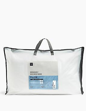 Memory Microfibre Pillow, , catlanding