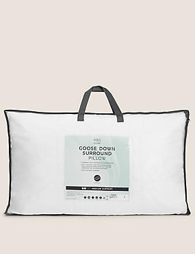 Quilted Goose Down Surround Pillow, , catlanding