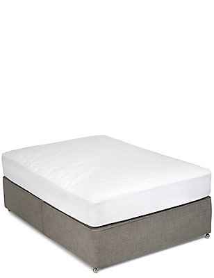 Supremely Washable Extra Deep Mattress Protector, WHITE, catlanding