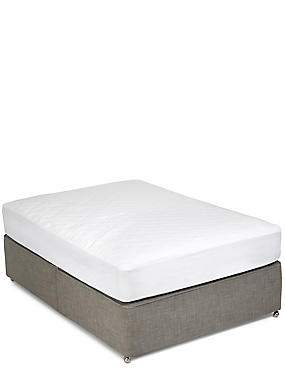 Supremely Washable Deep Mattress Protectors, WHITE, catlanding