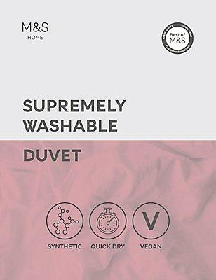 Maschinenwaschbare Bettdecke mit Tog-Wert von 4,5, WEISS, catlanding