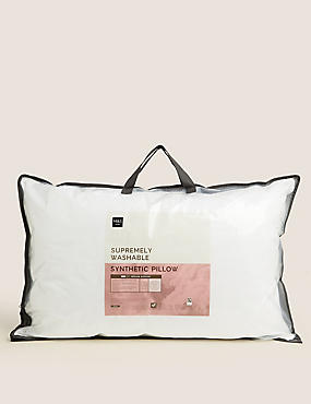 Supremely Washable Medium Pillow, , catlanding